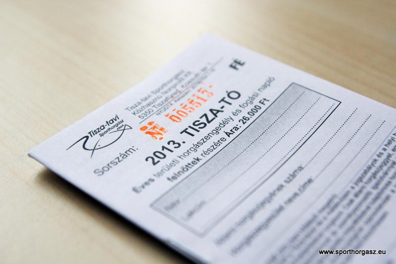 Hamarosan megvásárolhatóak a 2014-es Tisza-tavi horgászjegyek