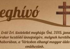 2015. január 17-én a II. világháborúban, a Vértesben elhunyt magyar áldozatokra emlékezünk!