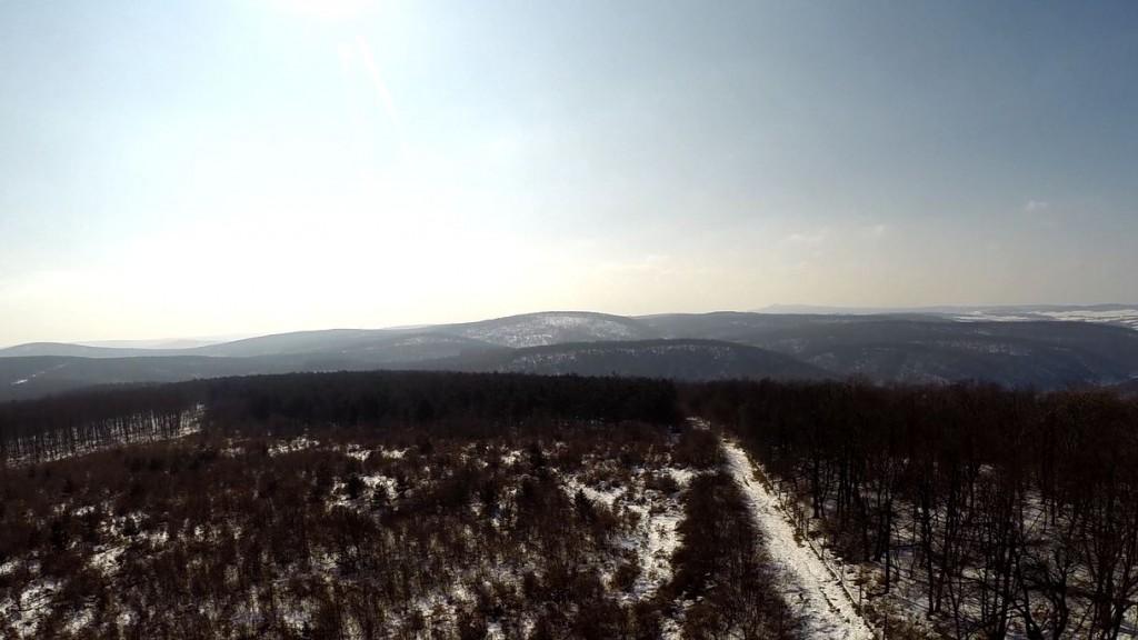 Ilyen lesz majd a kilátás néhány hónap múlva egy kilátóból! – Kilátóhely nézőben a téli Bakonyban – 2015.02.18