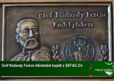 Gróf Nádasdy Ferenc emlékplakett kitüntetést kapott a SEFAG Zrt. – 2015.07.05-i adás