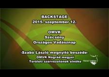 Országos Vadásznap Szécsényben – 2015.09.12. – Szabó László beszéde