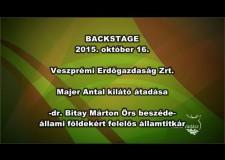 Dr. Majer Antal kilátó átadása – Bakony – 2015. 10. 18. – Dr. Bitay Márton Örs államtitkár beszéde