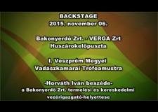 I. Veszprém Megyei Vadászkamarai Trófeamustra – 2015.11.06. – Horváth Iván beszéde