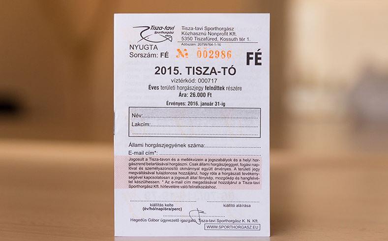 A 2017. évi Tisza-tavi horgászjegyek ára – Nem változik!