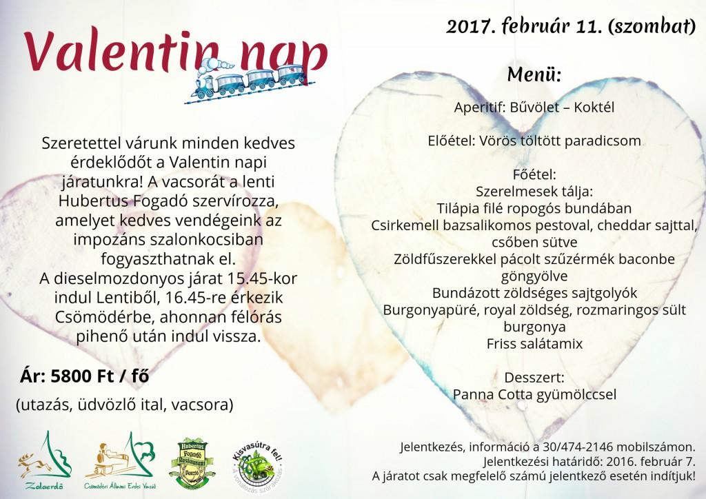 Valenti Napi Járat a Csömödéri Erdei Vasúton! – 2017.02.11