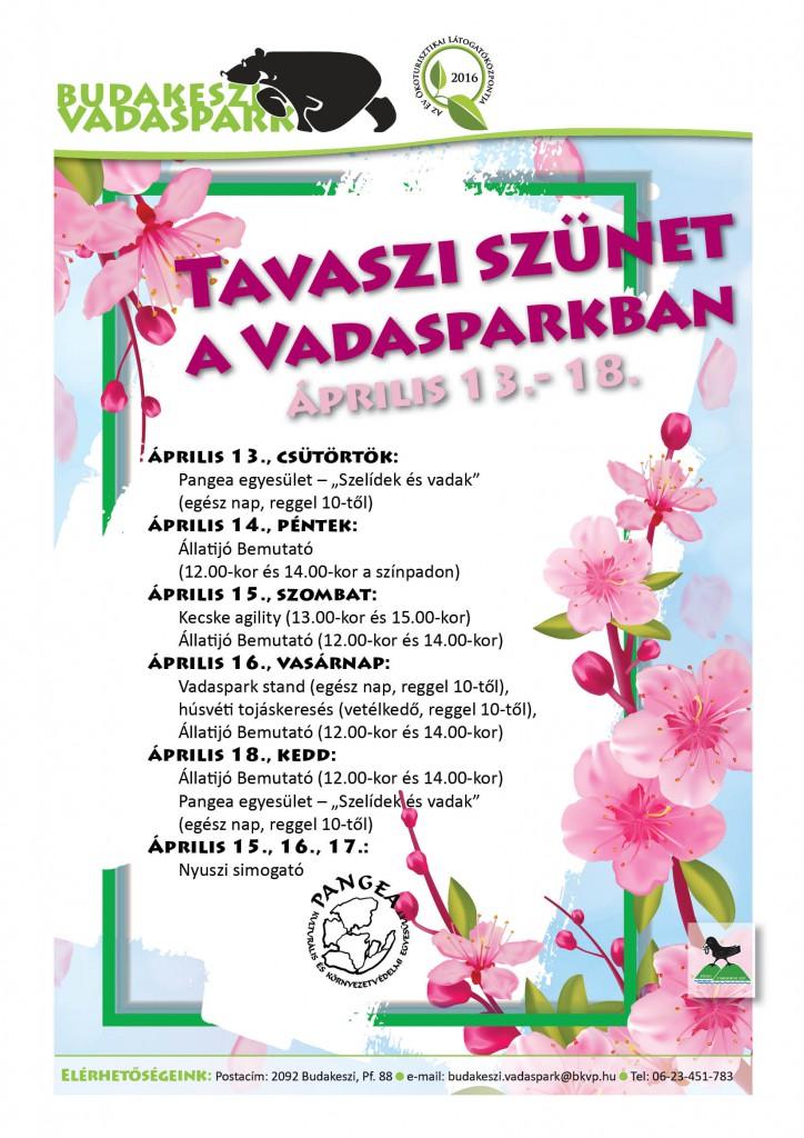 A Budakeszi Vadaspark programdömpingje a tavaszi szünetre – 2017.04.10