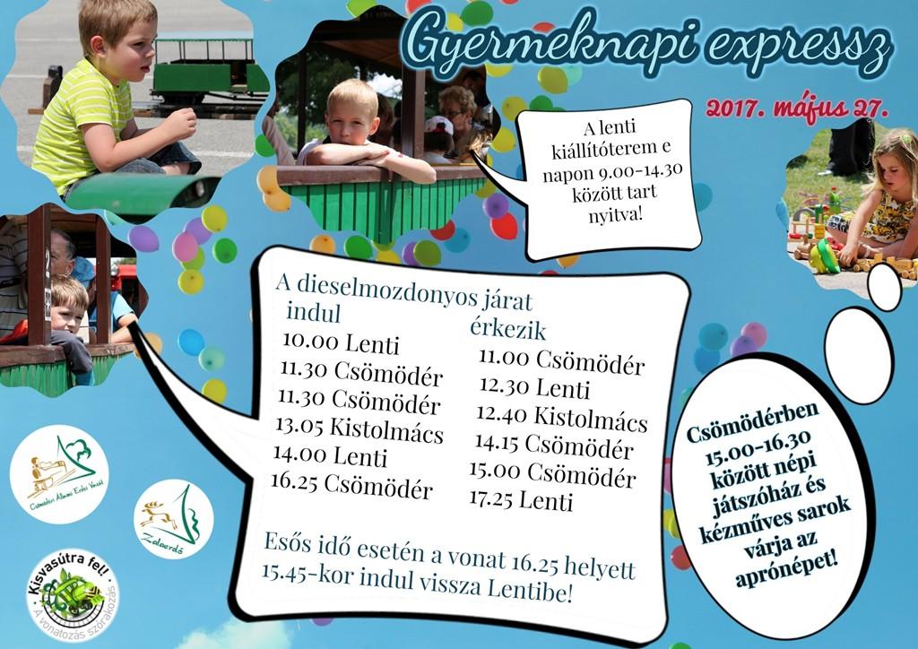 Gyermeknapi járat a Csömödéri Állami Erdei Vasúttal – 2017.05.23