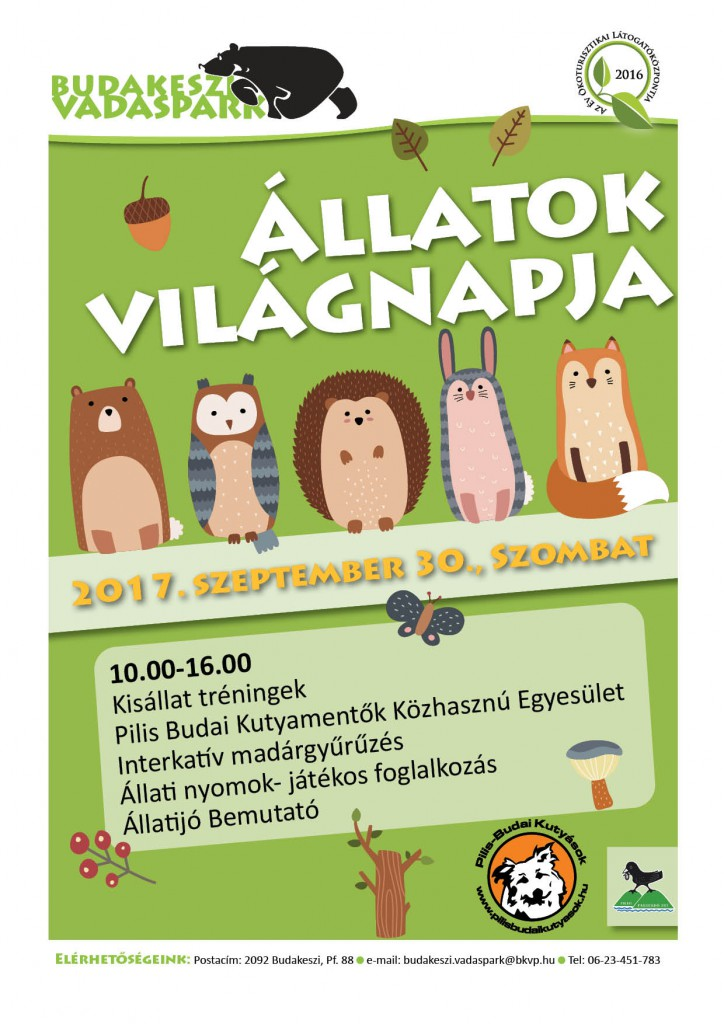 Állatok Világnapja a Budakeszi Vadasparkban_2017.09.30