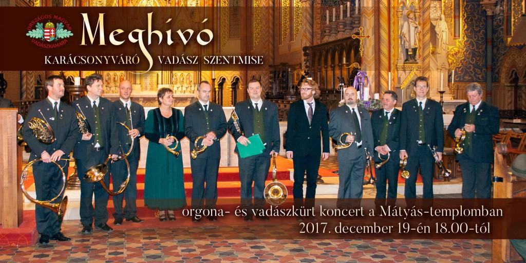 Az OMVK mindenkit szeretettel vár a Mátyás-templomba a Karácsonyváró Vadász Szentmisére valamint az orgona- és vadászkürt koncertre!
