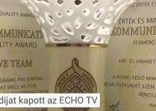 Nívódíjat kapott az ECHO-TV – 2018.09.11.