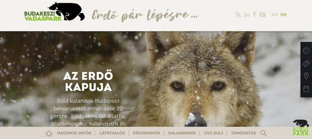 Látogatóbarát módon újult meg a Budakeszi Vadaspark honlapja