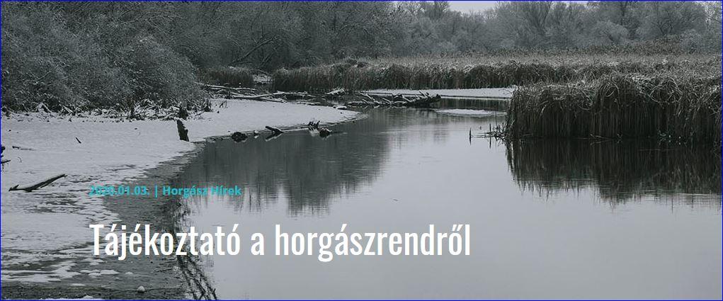 Tisza-tó – Tájékoztató a horgászrendről – 2020.01.03